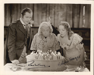 VANESSA, HER LOVE STORY MOVIE CAST - AUTOGRAPHED SIGNED PHOTOGRAPH CO-SIGNED BY: HELEN HAYES, ROBERT MONTGOMERY
