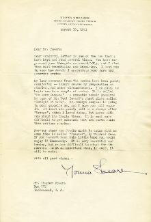 NORMA SHEARER - TYPED LETTER SIGNED 08/19/1941
