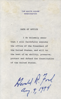 Autographs: PRESIDENT GERALD R. FORD - COLLECTION