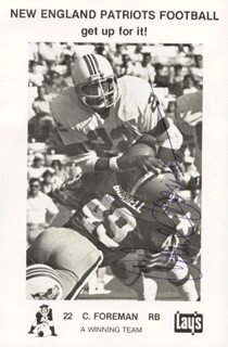 CHUCK FOREMAN - AUTOGRAPHED SIGNED PHOTOGRAPH