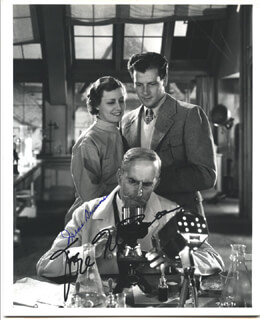 THE SILVER CORD MOVIE CAST - AUTOGRAPHED SIGNED PHOTOGRAPH CO-SIGNED BY: IRENE DUNNE, JOEL McCREA
