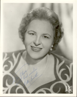 KATE SMITH - AUTOGRAPHED INSCRIBED PHOTOGRAPH