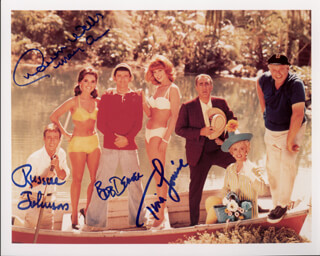 GILLIGAN'S ISLAND TV CAST - AUTOGRAPHED SIGNED PHOTOGRAPH CO-SIGNED BY: RUSSELL JOHNSON, BOB DENVER, TINA LOUISE, DAWN WELLS