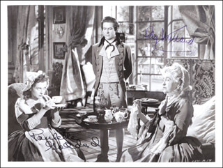 KITTY MOVIE CAST - AUTOGRAPHED SIGNED PHOTOGRAPH CO-SIGNED BY: PAULETTE GODDARD, RAY MILLAND