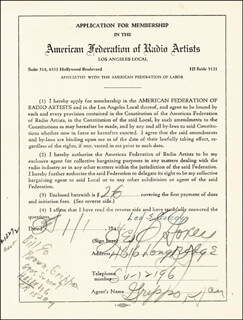 LEO B. GORCEY - DOCUMENT SIGNED 01/01/1944