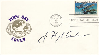 Autographs: J. FLOYD ANDREWS - FIRST DAY COVER SIGNED