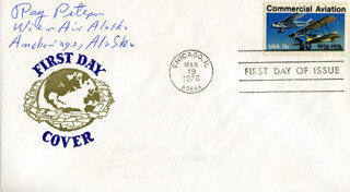 RAY PETERSEN - FIRST DAY COVER SIGNED