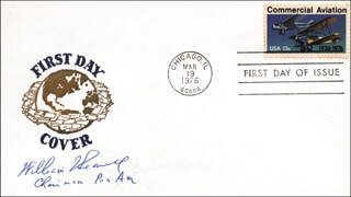 BRIGADIER GENERAL WILLIAM T. SEAWELL - FIRST DAY COVER SIGNED