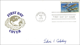 Autographs: EDWIN COLODNY - FIRST DAY COVER SIGNED