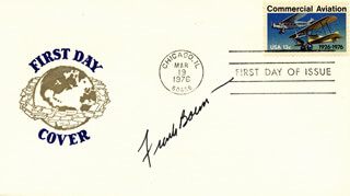 Autographs: COLONEL FRANK BORMAN - FIRST DAY COVER SIGNED