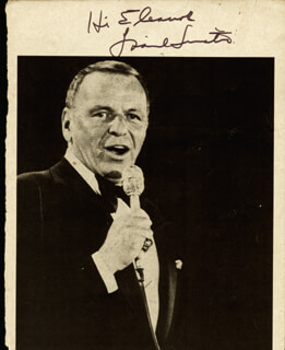 FRANK SINATRA - INSCRIBED MAGAZINE PHOTO SIGNED
