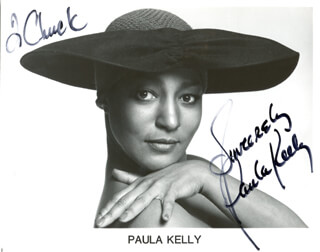 PAULA KELLY - AUTOGRAPHED INSCRIBED PHOTOGRAPH 1982
