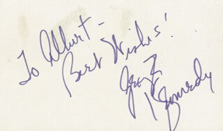 GEORGE KENNEDY - AUTOGRAPH NOTE SIGNED