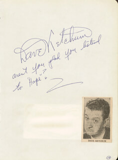 DAVE KETCHUM - AUTOGRAPH NOTE SIGNED CO-SIGNED BY: JIM MCCULLA