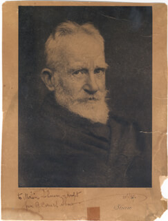 GEORGE BERNARD SHAW - AUTOGRAPHED INSCRIBED PHOTOGRAPH 01/28/1937