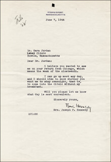 ROSE F. KENNEDY - TYPED LETTER SIGNED 06/07/1944