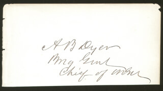 Autographs: MAJOR GENERAL ALEXANDER BRYDIE DYER - SIGNATURE(S)