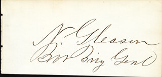 Autographs: BRIGADIER GENERAL NEWELL GLEASON - SIGNATURE(S)