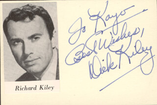 RICHARD KILEY - AUTOGRAPH NOTE SIGNED