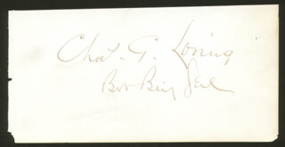 Autographs: GENERAL CHARLES G. LORING - SIGNATURE(S)