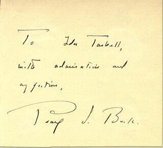 PEARL S. BUCK - AUTOGRAPH NOTE SIGNED