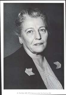 Autographs: PEARL S. BUCK - PHOTOGRAPH UNSIGNED