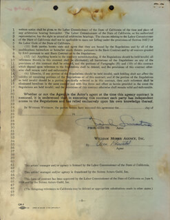 FRANK SINATRA - CONTRACT SIGNED 09/19/1955
