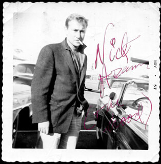 NICK THE REBEL ADAMS - AUTOGRAPHED SIGNED PHOTOGRAPH