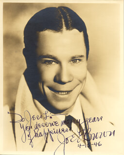 JOE E. BROWN - AUTOGRAPHED INSCRIBED PHOTOGRAPH 04/15/1946