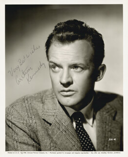 ARTHUR KENNEDY - AUTOGRAPHED SIGNED PHOTOGRAPH