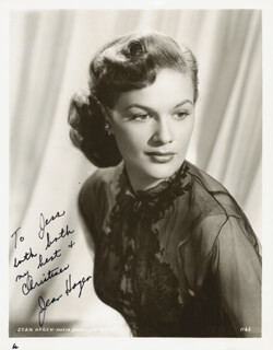 JEAN HAGEN - AUTOGRAPHED INSCRIBED PHOTOGRAPH