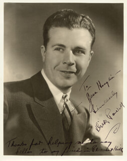 DICK POWELL - AUTOGRAPHED INSCRIBED PHOTOGRAPH