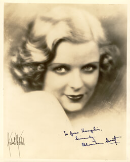 BLANCHE SWEET - AUTOGRAPHED INSCRIBED PHOTOGRAPH