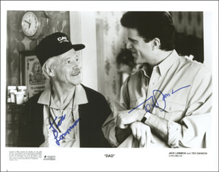 DAD MOVIE CAST - AUTOGRAPHED SIGNED PHOTOGRAPH CO-SIGNED BY: TED DANSON, JACK LEMMON