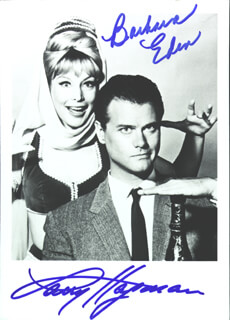 I DREAM OF JEANNIE TV CAST - AUTOGRAPHED SIGNED PHOTOGRAPH CO-SIGNED BY: BARBARA EDEN, LARRY HAGMAN