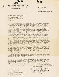 GEORGE JESSEL - CONTRACT SIGNED 04/07/1948