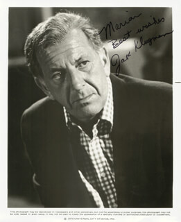 JACK KLUGMAN - INSCRIBED PRINTED PHOTOGRAPH SIGNED IN INK