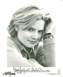 JENNIFER JASON LEIGH - PRINTED PHOTOGRAPH SIGNED IN INK CIRCA 1986