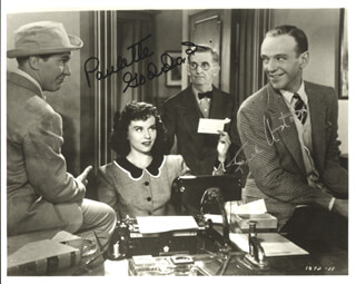 SECOND CHORUS MOVIE CAST - AUTOGRAPHED SIGNED PHOTOGRAPH CO-SIGNED BY: PAULETTE GODDARD, FRED ASTAIRE