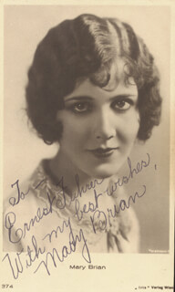MARY BRIAN - INSCRIBED PICTURE POSTCARD SIGNED