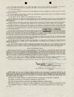 JAMES MASON - CONTRACT SIGNED 11/07/1949