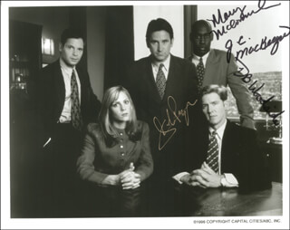 MURDER ONE TV CAST - AUTOGRAPHED SIGNED PHOTOGRAPH CO-SIGNED BY: J. C. MacKENZIE, D. B. WOODSIDE, ANTHONY LaPAGLIA, MARY McCORMACK