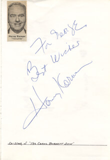 HARVEY KORMAN - AUTOGRAPH NOTE SIGNED