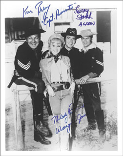 F TROOP TV CAST - AUTOGRAPHED SIGNED PHOTOGRAPH CO-SIGNED BY: MELODY PATTERSON, LARRY STORCH, KEN BERRY