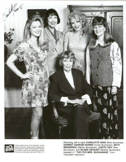 THE FIVE MRS BUCHANANS TV CAST - AUTOGRAPHED SIGNED PHOTOGRAPH CIRCA 1994 CO-SIGNED BY: EILEEN HECKART, CHARLOTTE ROSS, HARRIET S. HARRIS, BETH BRODERICK, JUDITH IVEY