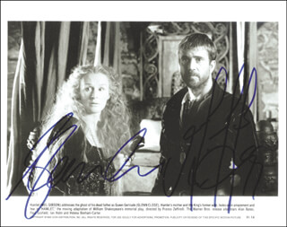 HAMLET MOVIE CAST - AUTOGRAPHED SIGNED PHOTOGRAPH CO-SIGNED BY: GLENN CLOSE, MEL GIBSON
