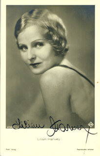 LILIAN HARVEY - AUTOGRAPHED SIGNED PHOTOGRAPH