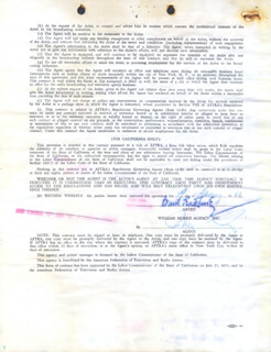 BASIL RATHBONE - CONTRACT SIGNED 02/01/1963