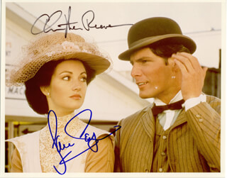 SOMEWHERE IN TIME MOVIE CAST - AUTOGRAPHED SIGNED PHOTOGRAPH CO-SIGNED BY: JANE SEYMOUR, CHRISTOPHER REEVE