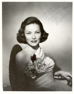 GENE TIERNEY - AUTOGRAPHED INSCRIBED PHOTOGRAPH